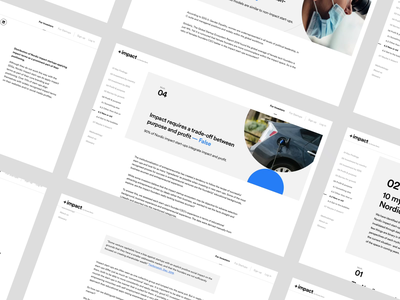 PlusImpact - Online Report 1 research startup dashboard product design branding user interface website platform corporate webdesign ux design ux ui design ui charts data report