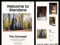 Poshtel - Product Page Explorations website design editorial minimal ux interface ui web