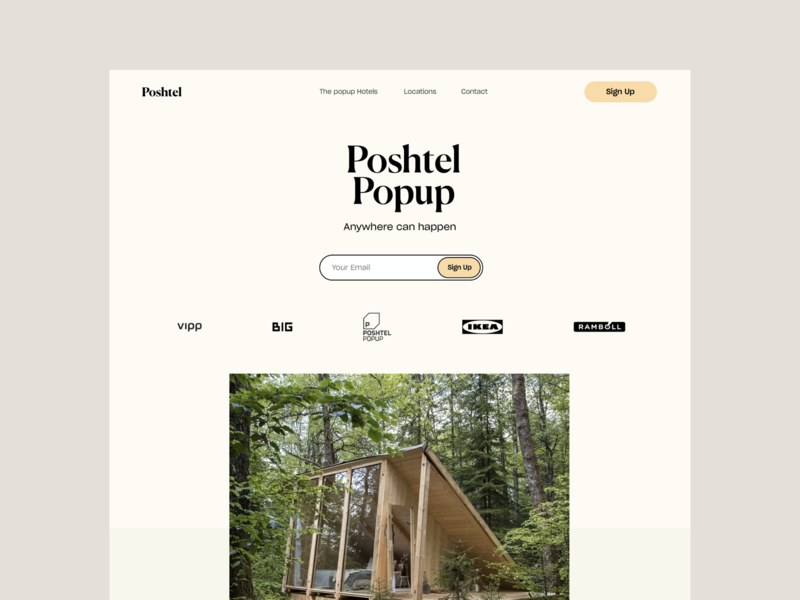 Poshtel - Design Explorations ux simple ikea poshtel website design minimal interface ui web