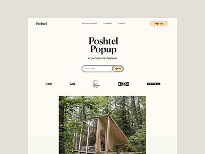 Poshtel - Design Explorations ux simple ikea poshtel website design minimal interface ui web