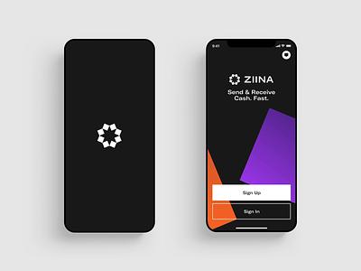 Ziina - App Screens application loader settings money transfer payment finance banking app design app