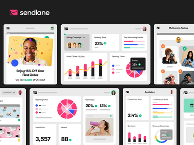 Sendlane - Product Shots Part 2 marketing email platform saas design saas app corporate interface ui web