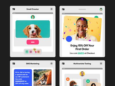 Sendlane - Product Shots Part 2 marketing email platform saas design saas app corporate interface ui web
