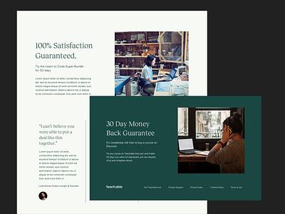 Teachable Discover saas website teachable courses course education saas platform corporate editorial minimal interface ui web