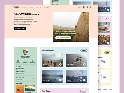 WKND - Weekends weekend adventure travel web app app saas saas app platform interface ui web