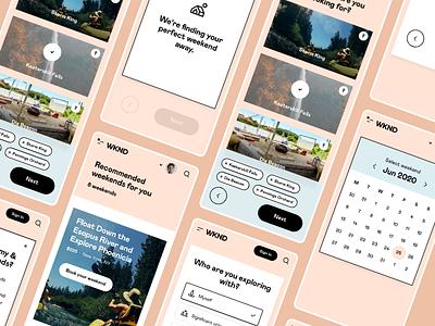 WKND - Discover Mobile saas design responsive mobile saas app platform saas travel design interface ui web