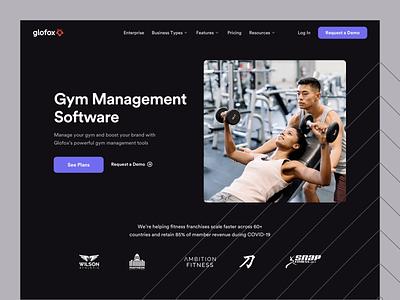 Glofox - Business Type Pages business sport gym saas platform ux design interface ui web