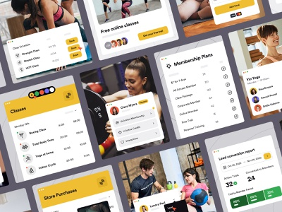 Glofox - Product Visuals fitness gym corporate illustrations platform product saas product visuals product shots interface web ui
