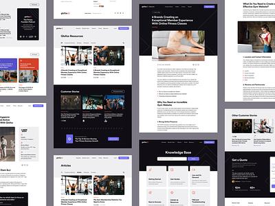 Glofox - Resources saas platform design interface ui web