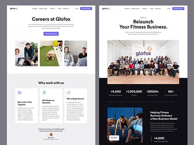 Glofox - Company Pages saas design interface ui web