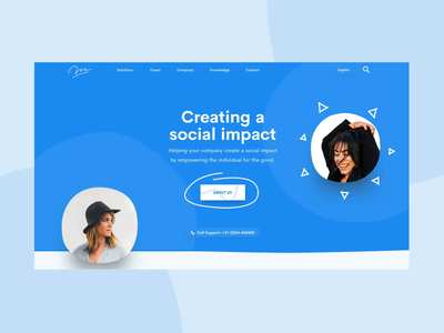 Corporate Design pastel landing page ux animation ui interface web