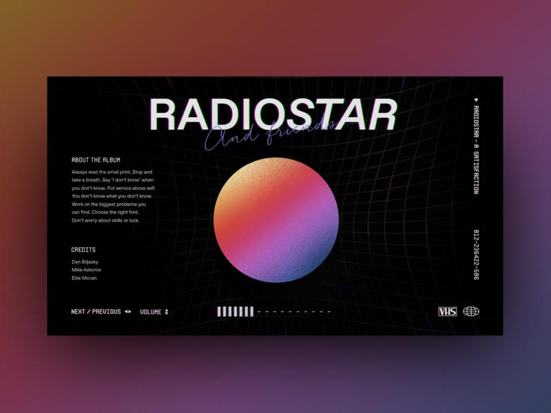 Album Interface design dark ui minimal interface web