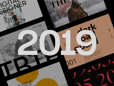 Recap 2019 work showreel recap 2019 design ux minimal interface ui web