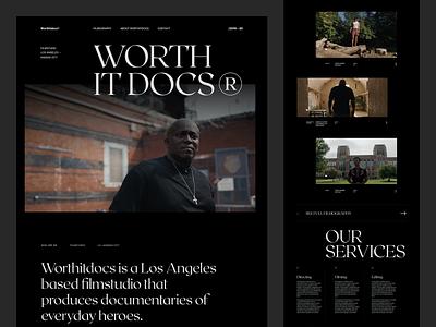 Worthitdocs Exploration website black dark editorial design ux minimal interface ui web