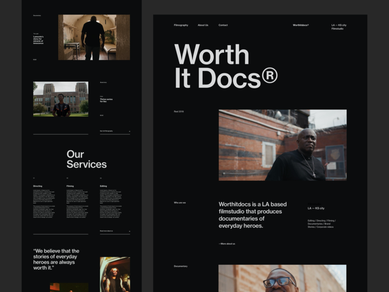 Worth It Docs Exploration 02 black portfolio editorial blog design ux minimal interface ui web