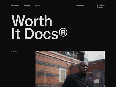 Worth It Docs Exploration 02 black portfolio editorial blog design ux minimal interface ui web