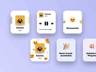 Music Watch App player music app play reaction emoji music watch smart watch apple watch design mobile ui