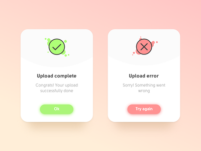 Daily UI #011 | Flash Message (Error/Success) flash message notification push progress upload error done success complete web 011 dailyui