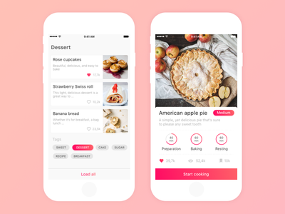 Cooking App cooking app tags food recipe cooking cook social app mobile ios ux ui