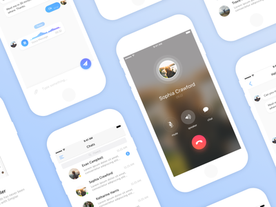 Chat & Calls App contacts android ios conversation call inbox message social navigation chat ux ui