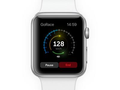 Apple Watch App | Racing Performance apple watch performance racing app stats speedometer race watch ui