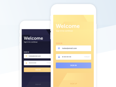 Sign in Screen sign up log in sign in ios ui mobile social start welcome