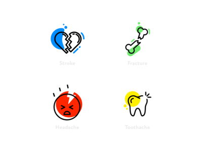 Doc Online – Icons tooth heart vector design logo illness disease medical icons doctor medicine illustration icons icon ui