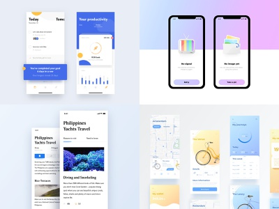 My #Top4Shots from 2018 2018 top4 top4shots concept blog ux vector android social app design navigation ios mobile ui