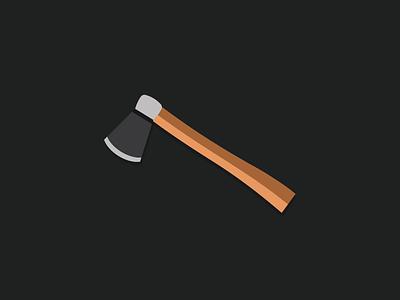 The axe graphic design logo design branding axe minimalist illustration flat design