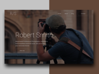 Photography Landing page concept