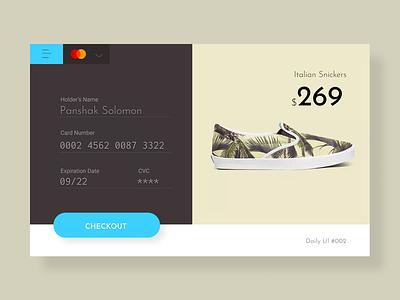 Credit Card Checkout. Daily UI #002 ui-kit web figma minimalist ux designer ecommerce checkout page checkout form ui dailyui