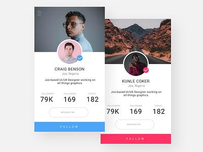 User Profile app graphic design figma minimalist mobile app ux ui user profile ui pack uidesign dailyui