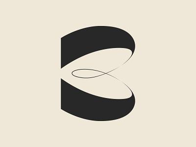 ✴ B - 36 days of type ✴ design design art graphisme letter typography illustration black graphism typedesign shapes lettering line type b