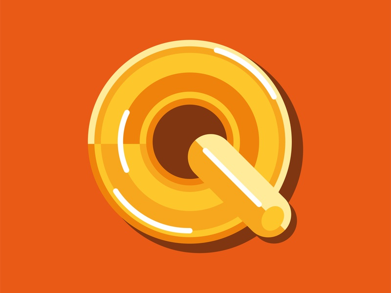 Q - 36 days of type™ illustration music disque circle shapes form lettre reflection lines design art 3d typography letter 36dayoftype graphisme type design work 70s groovy