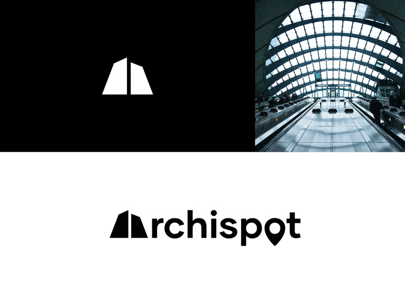 Archispot - identity icon identity blackandwhite shapes conception image spot architecture logotype art direction graphisme type vector logo branding typography work design