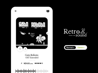 Retro sound ♪ - Ui concept design interface figma animation web icon branding logo ux uiux brand musicplayer playlist music pixel game uidesign application ui app