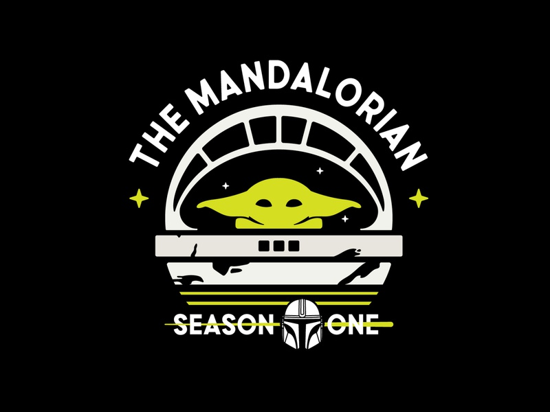 The Mandalorian ✦ icon logotype retro character design art letter graphisme typography badge sciencefiction mandalorian green baby yoda starwars vector logo illustration