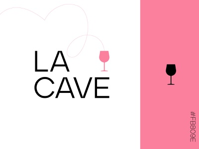 La cave - logo concept ✳ art direction alcohol branding logodesign logotype wine label typography identity minimalist logo cave concept alcohol pink wine branding minimalist letter graphisme work design