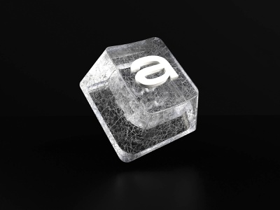 36 days of type -  A type art imagination type design concept glass render cinema4d 36daysoftypea typeface keyboard letter type 36dayoftype 3d typography graphisme work design