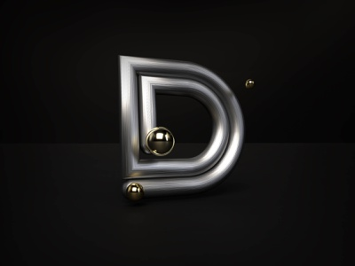 36 days of type - D octane rendering type art typeface 36dayoftype design art black typography type letter graphisme modeling cinema4d c4d render design