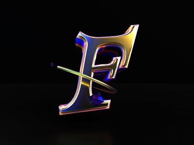 36 days of type - F render cinema4d serif golden iridescent chromatic gold f black 36dayoftype design art 3d letter type typography illustration graphisme work design