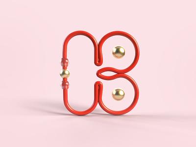 36 days of type - K art imagination graphicdesign line art red k candy gold sweet render design art 3d letter type typography illustration graphisme work design