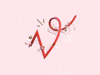36 days of type - V ! nft art typo lettre 36daysoftype red line v render letter type typography illustration graphisme work design