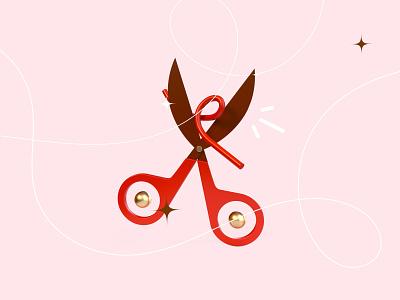 36 days of type - Y ! cut line scissors modeling texture blender render 3d object y 36days-y 36daysoftype red letter type typography illustration graphisme work design