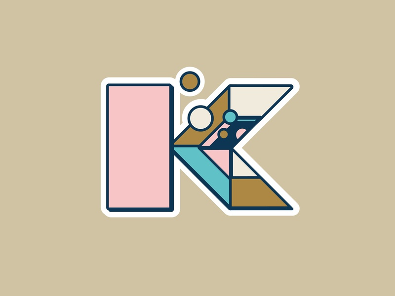 K - 36daysoftype : into the space ! 36days-k k space art icon design art blue black 36dayoftype 3d letter vector graphisme illustration typography type work design