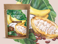 Cocoa cookies package design