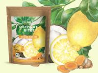 Lemon & curcuma cookies package design