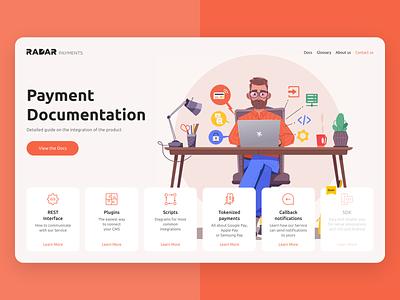 Payment documentation main screen payment documentation ux ui web-design illustration four-buro four-bureau