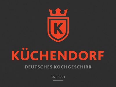 Küchendorf — Logotype kochgeschirr sign logotype logo