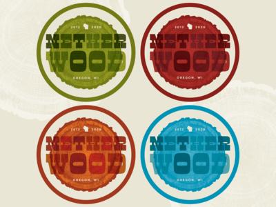 Netherwood Coasters retro coaster newandnoteworthy manicotti type wisconsin vector dribbble branding typography design